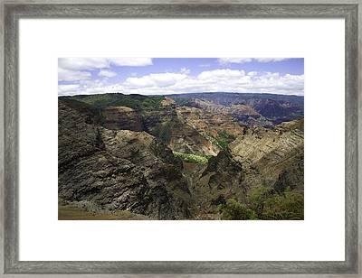 Waimea Canyon2 Framed Print by Joanna Madloch