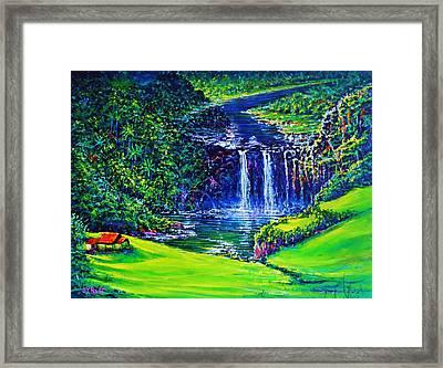 Waimea Falls Lv Framed Print by Joseph   Ruff