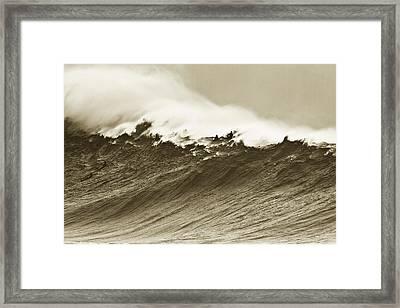 Waimea Wall Framed Print by Sean Davey
