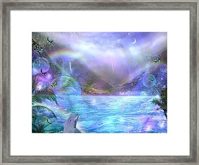 Waimia Dolphin Framed Print by Alixandra Mullins