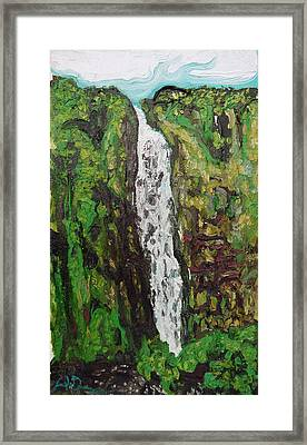 Waimoku Falls Framed Print by Joseph Demaree