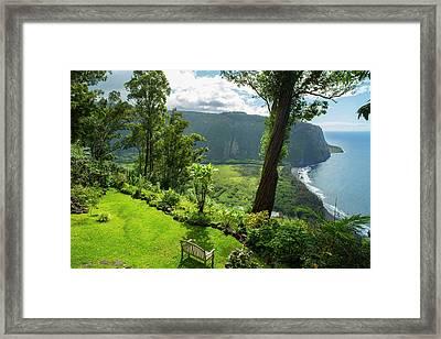 Waipio Valley, Hamakua Coast, Big Framed Print