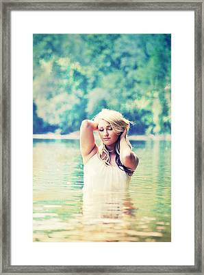 Waist Deep In Enchanted Waters Framed Print by Chastity Hoff