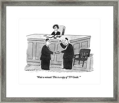 Wait A Minute!  This Is A Copy Of 'tv Guide.' Framed Print by Mick Stevens