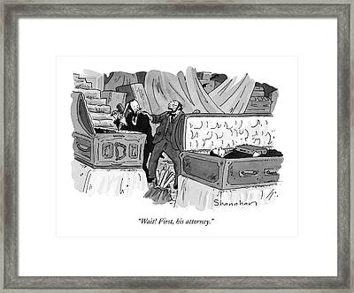 Wait! First Framed Print by Danny Shanahan