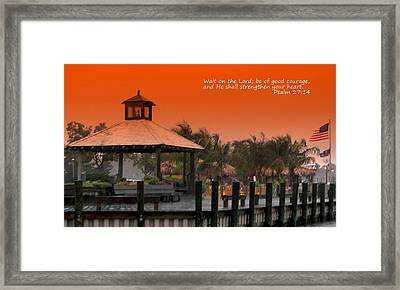 Wait On The Lord Framed Print by Pamela Hyde Wilson