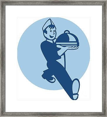 Waiter Cook Chef Baker Serving Food Framed Print by Aloysius Patrimonio