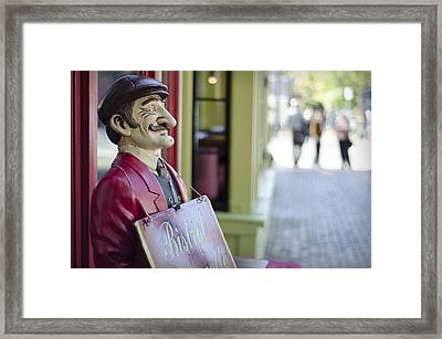 Framed Print featuring the photograph Waiter by Michael Donahue