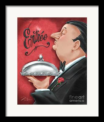 Waiter Framed Prints