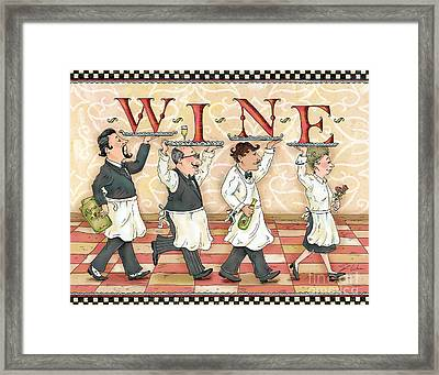Waiters Wine Framed Print by Shari Warren