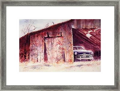 Framed Print featuring the painting Waitin In The Shade by John  Svenson