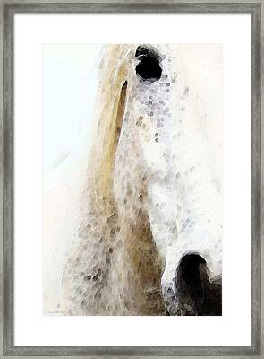 Horse Art - Waiting 2 - By Sharon Cummings Framed Print