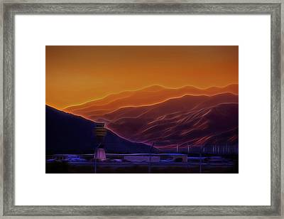 Palm Springs Sunset Framed Print by Jay Hooker