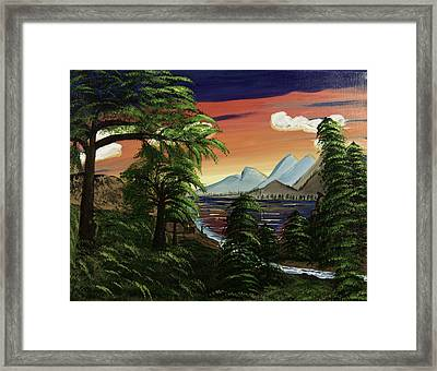 Waiting And Watching Framed Print by Donna Guzman