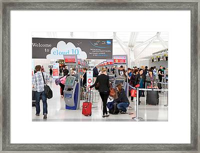 Waiting Area Framed Print by Valentino Visentini