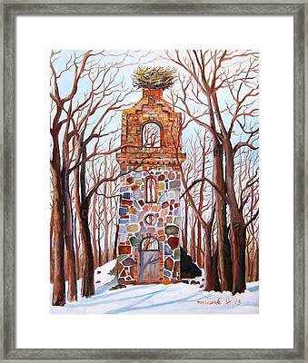 Waiting At Church Ruins  Framed Print