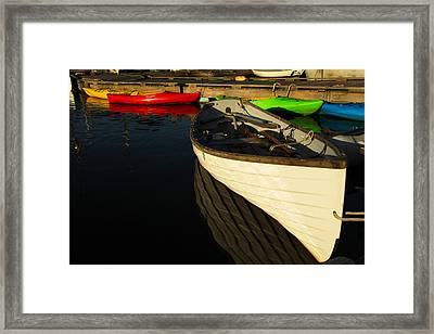 Waiting At The Dock Framed Print by Karol Livote