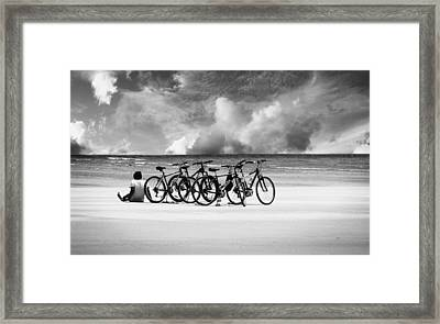 Waiting At The Edge Of The World Framed Print by Laura Fasulo
