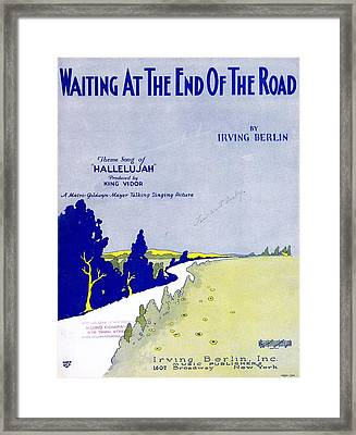 Waiting At The End Of The Road Framed Print