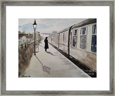 Waiting At Williton Framed Print