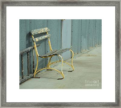Waiting Bench Framed Print