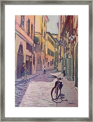 Waiting Bike Framed Print by Jenny Armitage