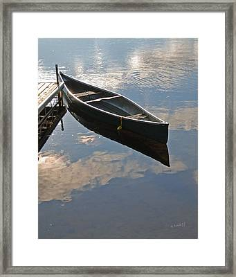 Waiting Canoe Framed Print by Renee Forth-Fukumoto