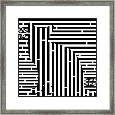 Waiting Cat Maze Framed Print by Yonatan Frimer Maze Artist