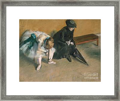 Waiting  Framed Print by Edgar Degas