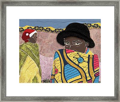 Waiting - Congo Refugee Camp Framed Print