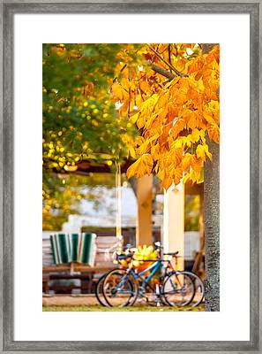 Waiting For A Ride Framed Print