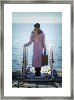 Waiting For A Ship Framed Print by Joana Kruse