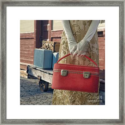 Waiting For A Train Framed Print by Edward Fielding