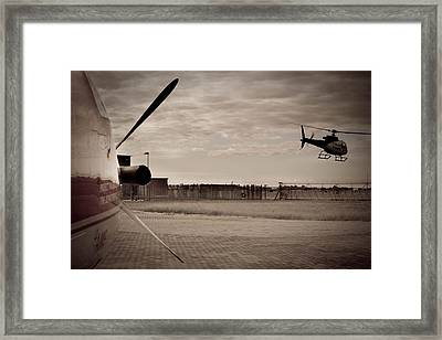 Waiting For Action Framed Print by Paul Job