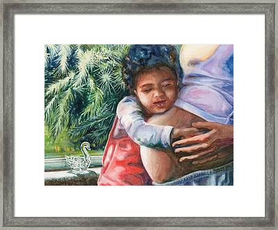 Waiting For Baby Framed Print