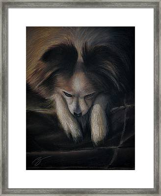 Waiting For Bed - Pastel Framed Print by Ben Kotyuk