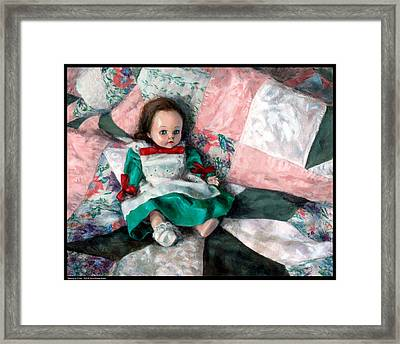 Waiting For Chloe Framed Print by Diana Moses Botkin