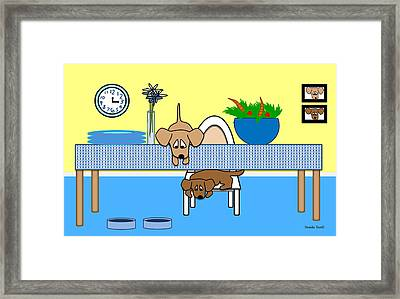 Waiting For Chow Framed Print by Natalie Terrill