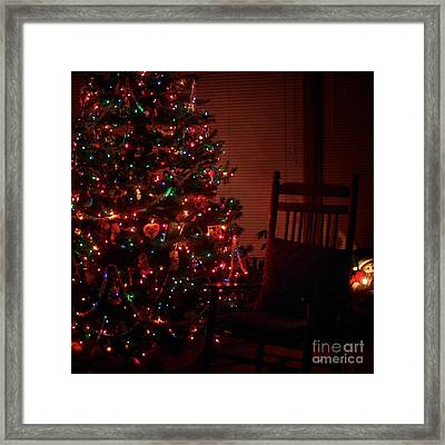 Waiting For Christmas - Square Framed Print