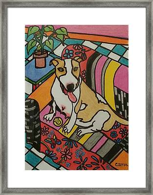 Waiting For Delivery Framed Print by Carol Hamby