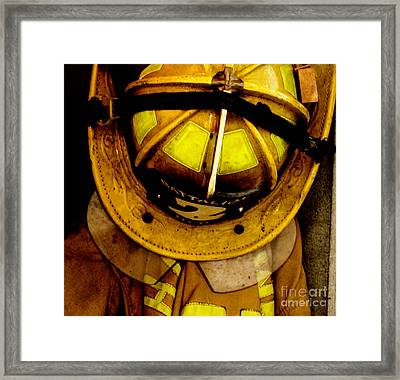 Waiting For Fire - Battalion 2  Framed Print by Steven Digman