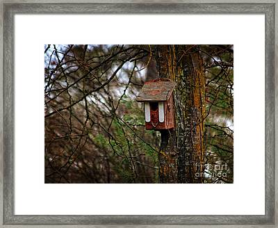 Framed Print featuring the photograph Waiting For Future Occupants  by Marjorie Imbeau