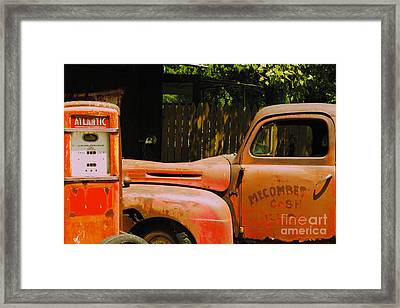 Waiting For Gas Framed Print by William Norton
