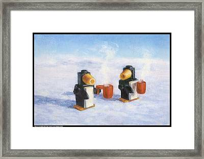 Waiting For Global Warming Framed Print by Diana Moses Botkin