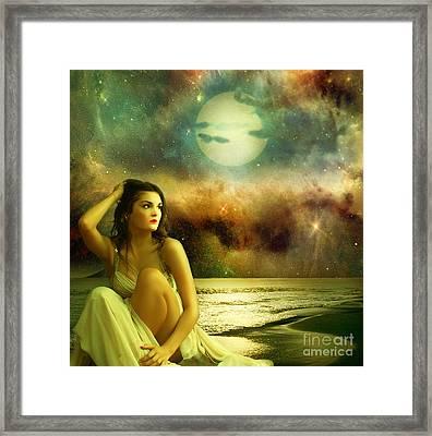 Waiting For Her Beloved Framed Print