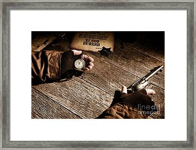 Waiting For High Noon Framed Print by Olivier Le Queinec