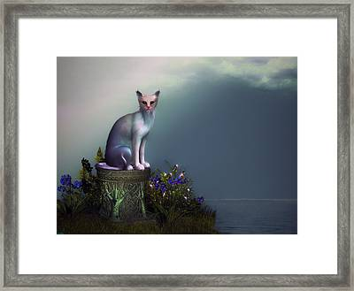 Waiting For His Return Framed Print by Tyler Robbins