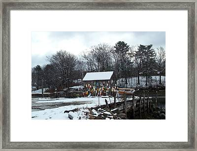Framed Print featuring the photograph Waiting For Lobster by Barbara McDevitt