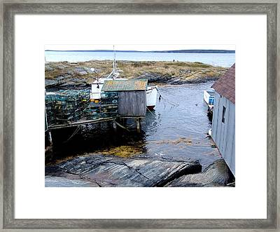 Waiting For Lobsters Framed Print by Janet Ashworth