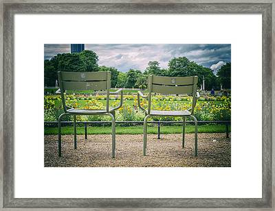 Waiting For Lovers Framed Print by Georgia Fowler